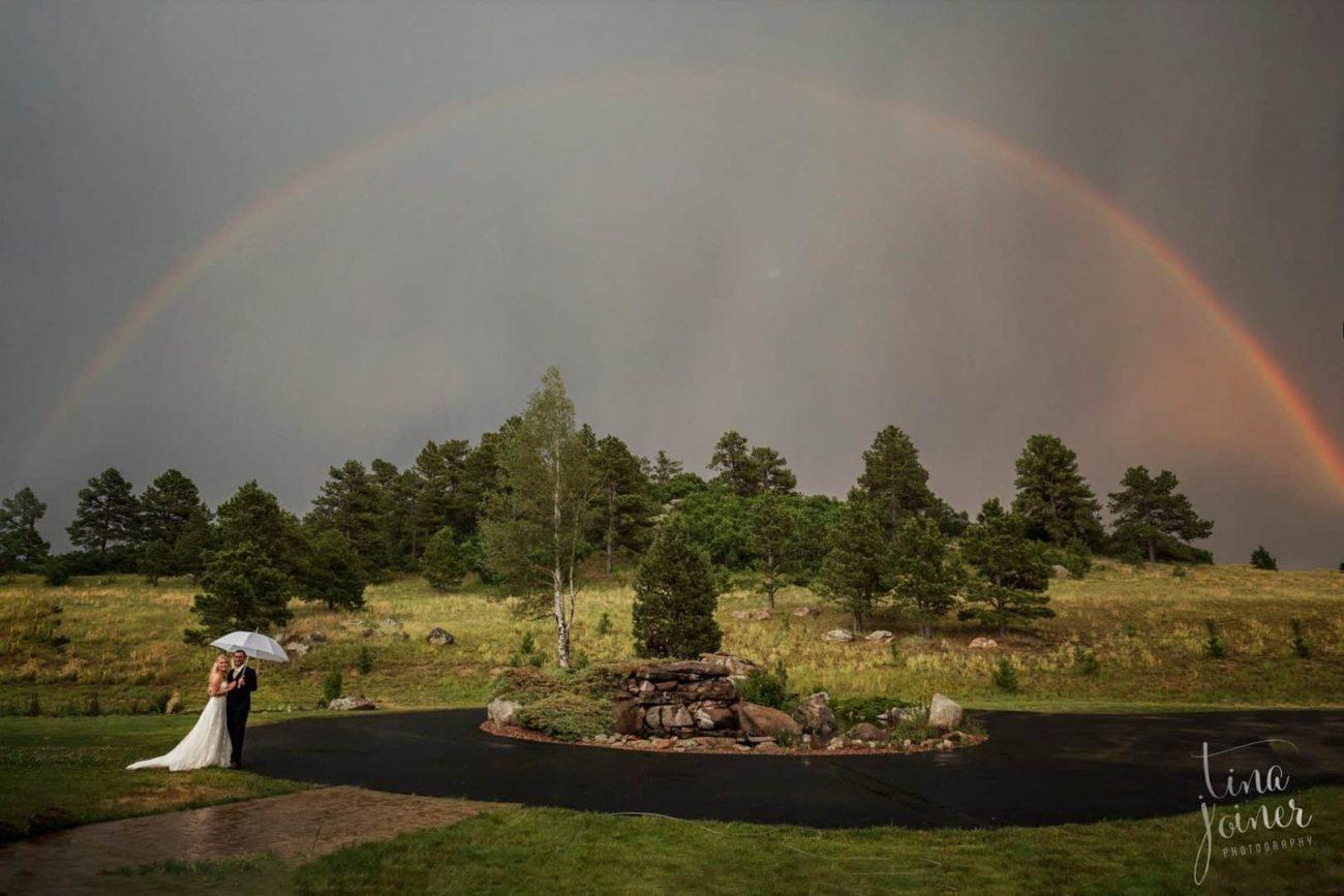 romantic wedding venue at the equestrian ranch in Colorado
