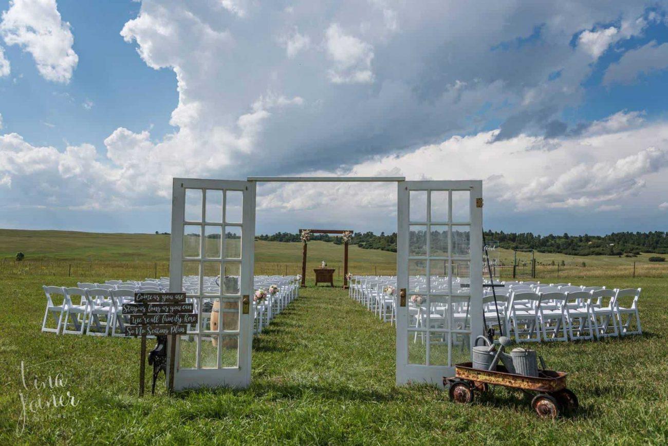 outdoor wedding at the Venue of Flying Horse Ranch Colorado
