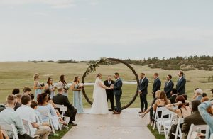wedding events with Colorado landscapes at Flying Horse Ranch